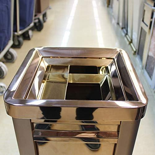 ごみの入れ替えが簡単 方法創造的なゴミ箱の正方形のホテルのロビーのショッピングモールの灰皿が付いているステンレス鋼のゴミ箱 ホームオフィスバスルームペーパーバスケット