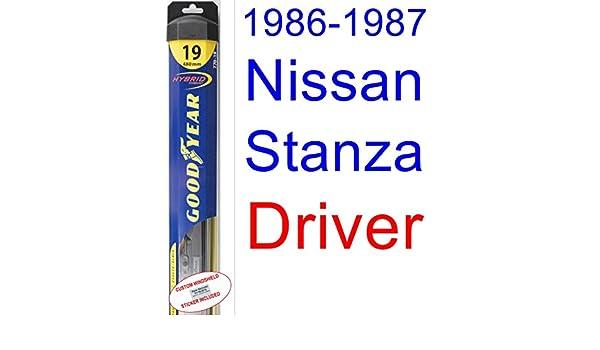 1986 - 1987 Nissan Stanza hoja de limpiaparabrisas de repuesto Set/Kit (Goodyear limpiaparabrisas blades-hybrid): Amazon.es: Coche y moto