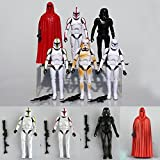 6Pcs Lot Star Wars Clone Wars Troopers Shadow Stormtrooper Action Figure NEW