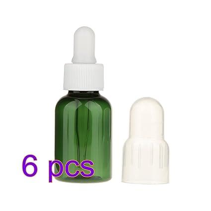 E-Greetshopping Botella contenedor Frasco gotero pipeta vacía Botellas de Muestra para Esencial 6pcs
