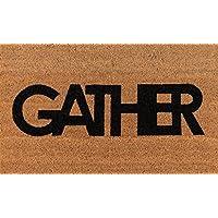 Novogratz Aloha Collection Gather Doormat, 16 x 26, Natural Brown