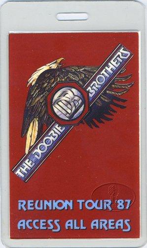 Backstage Pass Laminate - Doobie Brothers 1987 Tour Laminated Backstage Pass