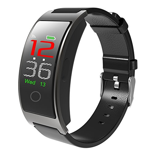 CK11C Color Screen Fitness Tracker Smart Watch Bracelet Blood Pressure Pedometer Dynamic Heart Rate Monitor Sleep Tracking, Call,Text&Calendar Alerts Calories Steps Waterproof Wristband (Silver)