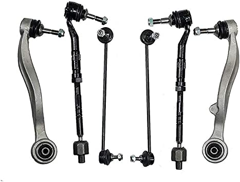 08-10 535i - 06-10 M5 - 06-10 550i 6PC Front Lower Control Arms w//Ball Joint - 04-05 545i - Detroit Axle 08-10 528i Outer Tie Rods and Sway Bars for 04-07 BMW 525i 530i -