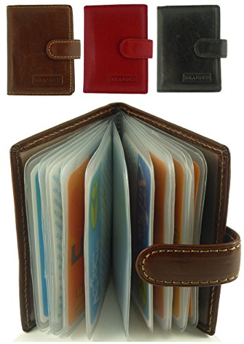 12 Plastic Brown Credit Leather Brown Card with Holder Card Designer Italian Inserts Quality Case nwaOCqzz8t