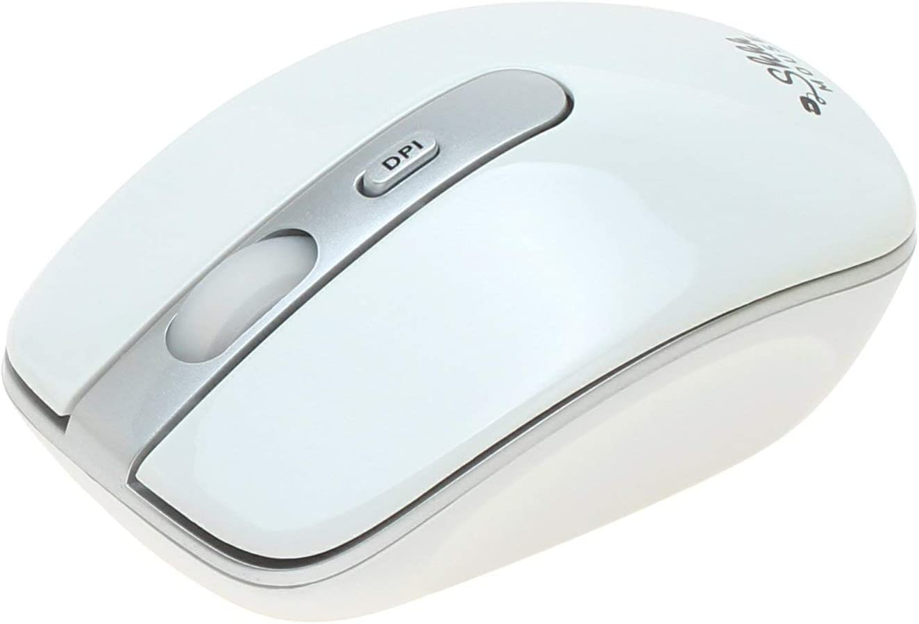 Silent Cordless Mice with 3 Adjustable DPI Levels for Chromebook White ShhhMouse Wireless Ergonomic Mouse for Laptop /& Computer with USB