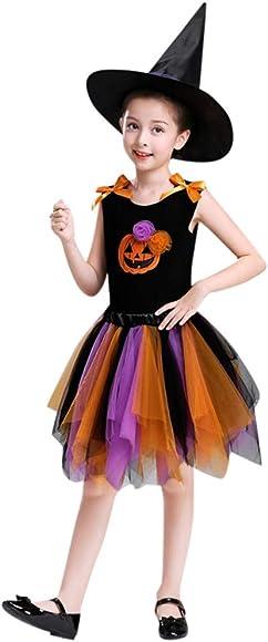 MAYOGO Disfraz Halloween Bebe Niña Cosplay Top sin Manga y ...