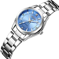 Women's Watches Gorgeous Luxury Dress Casual Fashion Waterproof Watches Diamond Rhinestone Quartz Wrist Watch(Blue)