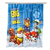 Paw Patrol Bathroom Set, Shower Curtain, Hooks, Bath Mat, and Bath Towel