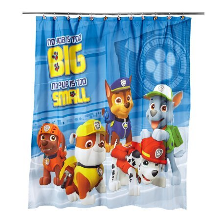 Paw Patrol Bathroom Set, Shower Curtain, Hooks, Bath Mat, and Bath Towel by Franco