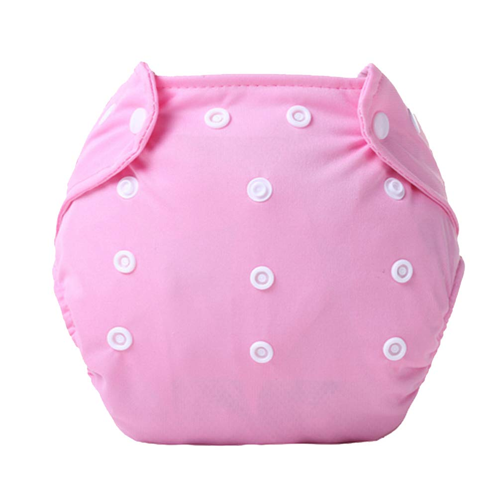 DierCosy Baby Cloth Diapers Washable and Reusable Diapers Adjustable Pull-on Pants Breathable Diaper Pants(Pink) BabyProducts
