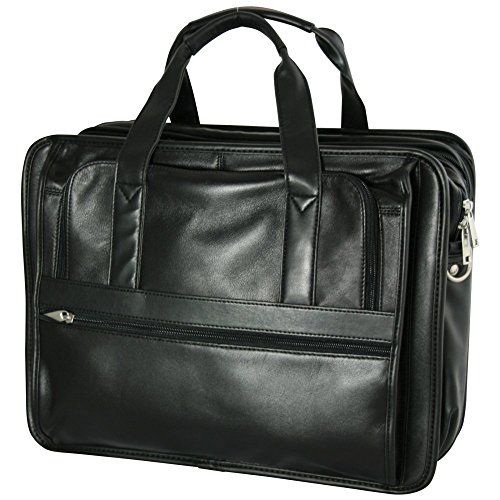 Bellino Expandable Soft Briefcase, Black