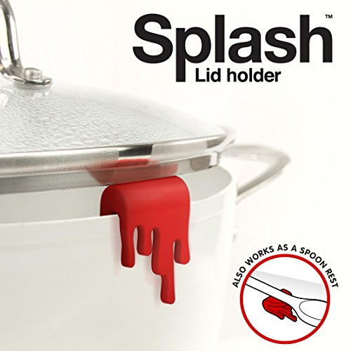 Mustard M 13008 Splash Lid Holder, Small, Red