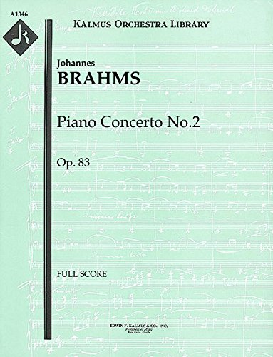 Piano Concerto No.2, Op.83: Full Score [A1346]