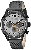 SO&CO New York Men's 'Monticello' Quartz Metal and Leather Sport Watch, Color:Grey (Model: 5279.2)