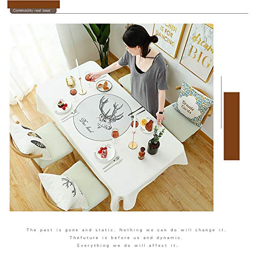 Spring & Summer Outdoor Tablecloth, Spill Proof and Waterproof Mouse Pad Unique ed Mousepad Spa Tower Stone And Hibiscus With BambooOn The Water Blurred Stitc Easy Care Spillproof/W54 x L120 Inch by PINAFORE HOME (Image #4)