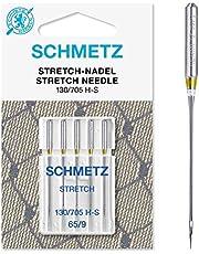 SCHMETZ Naaimachinenaalden, 5 stretchnaalden, 130/705 H-S, geschikt voor alle gangbare huishoudelijke naaimachines, geschikt voor de verwerking van elastische stoffen