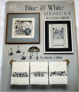 Book Blue & White Designs in Cross Stitch (American School of Needlework, #355)
