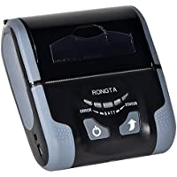 Rongta RPP200BWU High-Speed Label Printer with Wireless Networking Mini Wireless Bluetooth Android Portable Mobile Thermal Receipt Printer 58 mm(Gray)