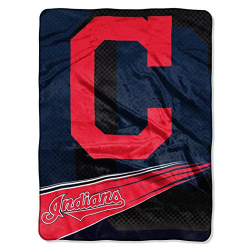 MLB Cleveland Indians Raschel Plush Throw Blanket, Speed Design