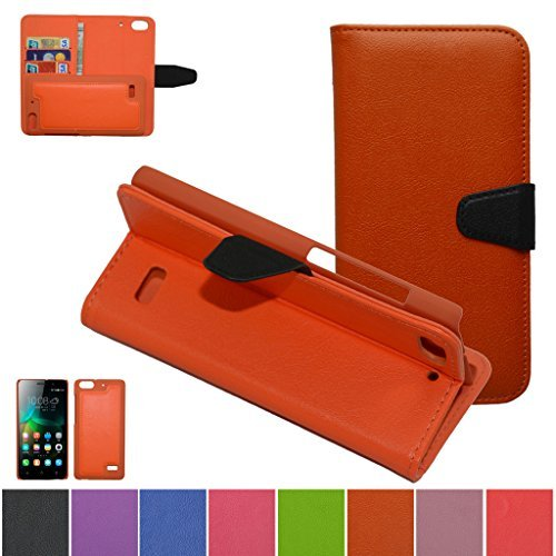Huawei Honor 4C Case,HUAWEI G Play mini Case,Mama Mouth [DETACHABLE Feature] Folio Flip Hard Case [Stand View] Premium PU Leather [Wallet Case] With Built-in Media Stand ID Credit Card / Cash Slots and Inner Pocket Cover For Huawei Honor 4C/HUAWEI G