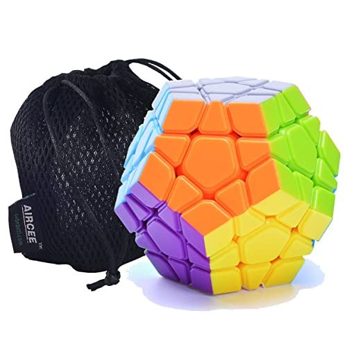 Cheap Aircee YJ Moyu Yuhu Megaminx Puzzle Cube Puzzle Stickerless With Bag (White) for sale