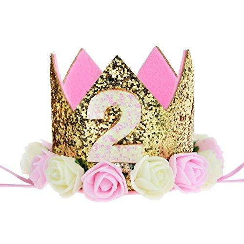 Baby Princess Tiara Crown, Kids First Birthday Hat