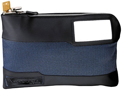 Master Lock 7120D Locking Security Bag, Blue, 10-inch x 8-5/8-inch x 1-7/8-inch (6 Pack) by Master Lock