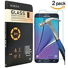 [2 PACK] Samsung Galaxy Note 5 Screen Protector, NOKEA [Scratch Resist] [Crystal Clear] [Easy Bubble-Free Installation] [9H Hardness] Tempered Glass Screen Protector for Galaxy Note 5
