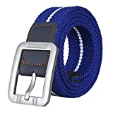 Christmas Gift Canvas Web Woven Belt with Buckle for Jeans 39-49inch