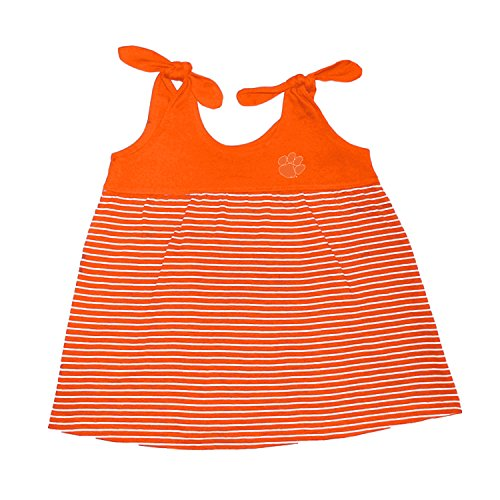 Striped Tiger Mascot (Clemson Tigers NCAA College Toddler Striped Sundress (3 Toddler))