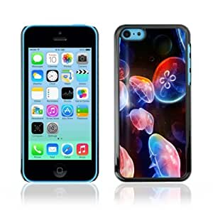 MMZ DIY PHONE CASEYOYOSHOP [Cool Neon Jellyfish in Ocean] Apple ipod touch 4 Case