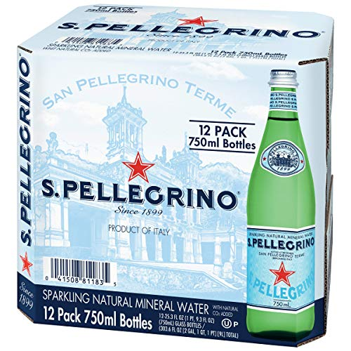 (San Pellegrino Sparkling Natural Mineral Water, 25.3 Fluid Ounce (Pack of 12))