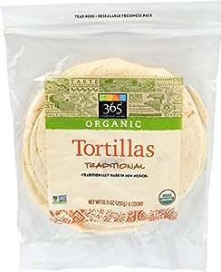 365 Everyday Value Organic Unbleached Flour Tortillas, 6