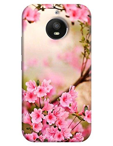 FurnishFantasy Plastic Back Cover for Motorola Moto E4 Plus Pink