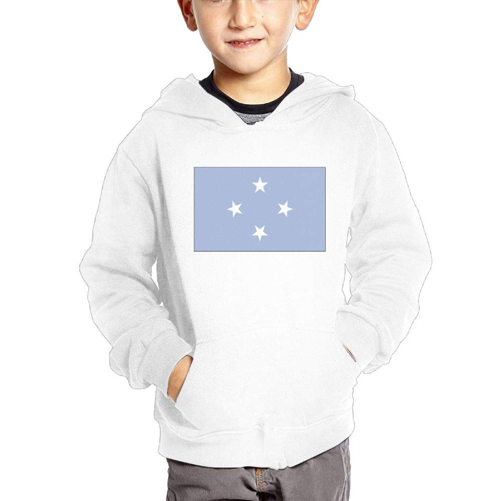 JIANGSHAN Micronesia Flag Personality Hooded Pocket Sweater for Children Spring//Autumn//Winter Outfit Long-Sleeved Hoodie