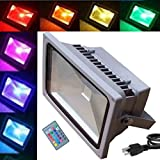 Best Lithonia Lighting Lighting EVER Lighting EVER Lighting EVER Lighting 4 Leds - JYtrend 30W RGB Led Flood Light [Remote Control] Review