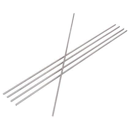 Kamas 5pcs Round Ti Bar Grade 5 Metal Rods 2250mm Titanium