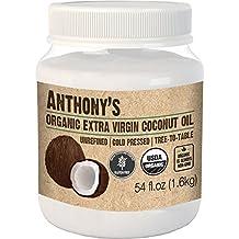 Anthony's Organic Extra Virgin Coconut Oil (54 Fluid Ounce), Gluten Free