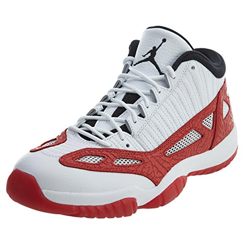 Jordan Men's Air 11 Retro Low IE, WHITE/GYM RED-BLACK, 8 M - Jordans Mens New