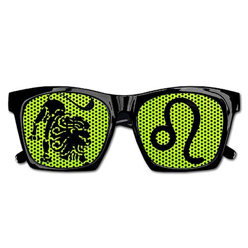 Leo Zodiac Unisex Polarized Party Sunglasses Resin Frame Eyewear Favor Mesh Lens Sun - Da Sunglasses Vinci