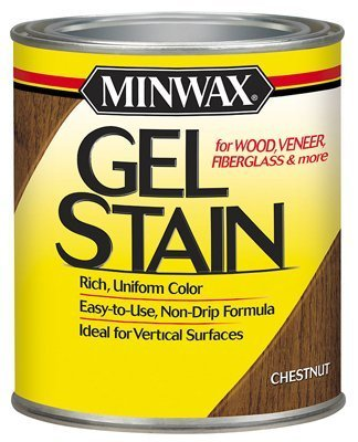 Minwax 26010 1/2 Pint Gel Stain Interior Wood, Chestnut by Minwax by Minwax (Image #1)