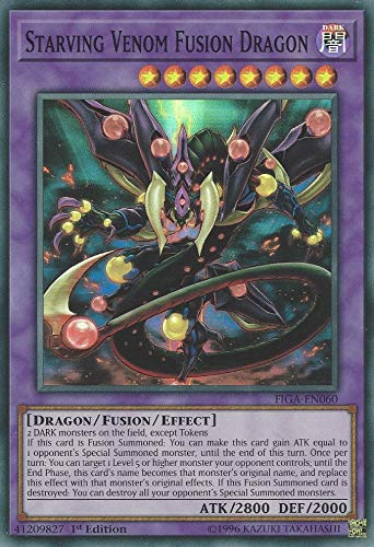 Yu-Gi-Oh! - Starving Venom Fusion Dragon - FIGA-EN060 - Super Rare - 1st Edition - Fists of The Gadgets (Cards Gi Yu Card Oh Fusion)