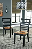 Signature Design by Ashley D645-01 Quinley Dining-Chair, Two-Tone Brown For Sale