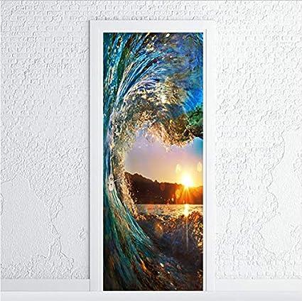 Amazon Com Zxl Adsjpy Surf Porte Autocollant Salon Salle De