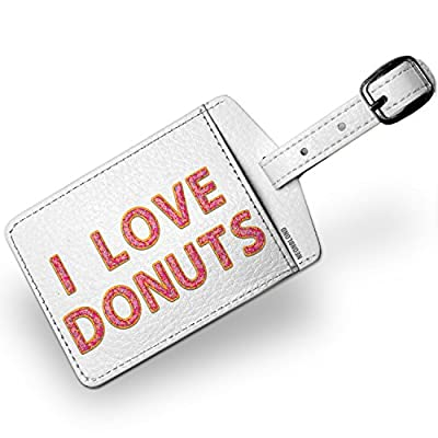 f98de224d3 Luggage Tag I Love Donuts Doughnuts Donuts - NEONBLOND hot sale ...