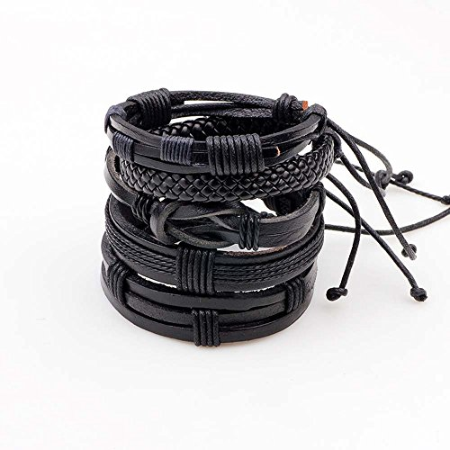 Buy black cord bracelets for women