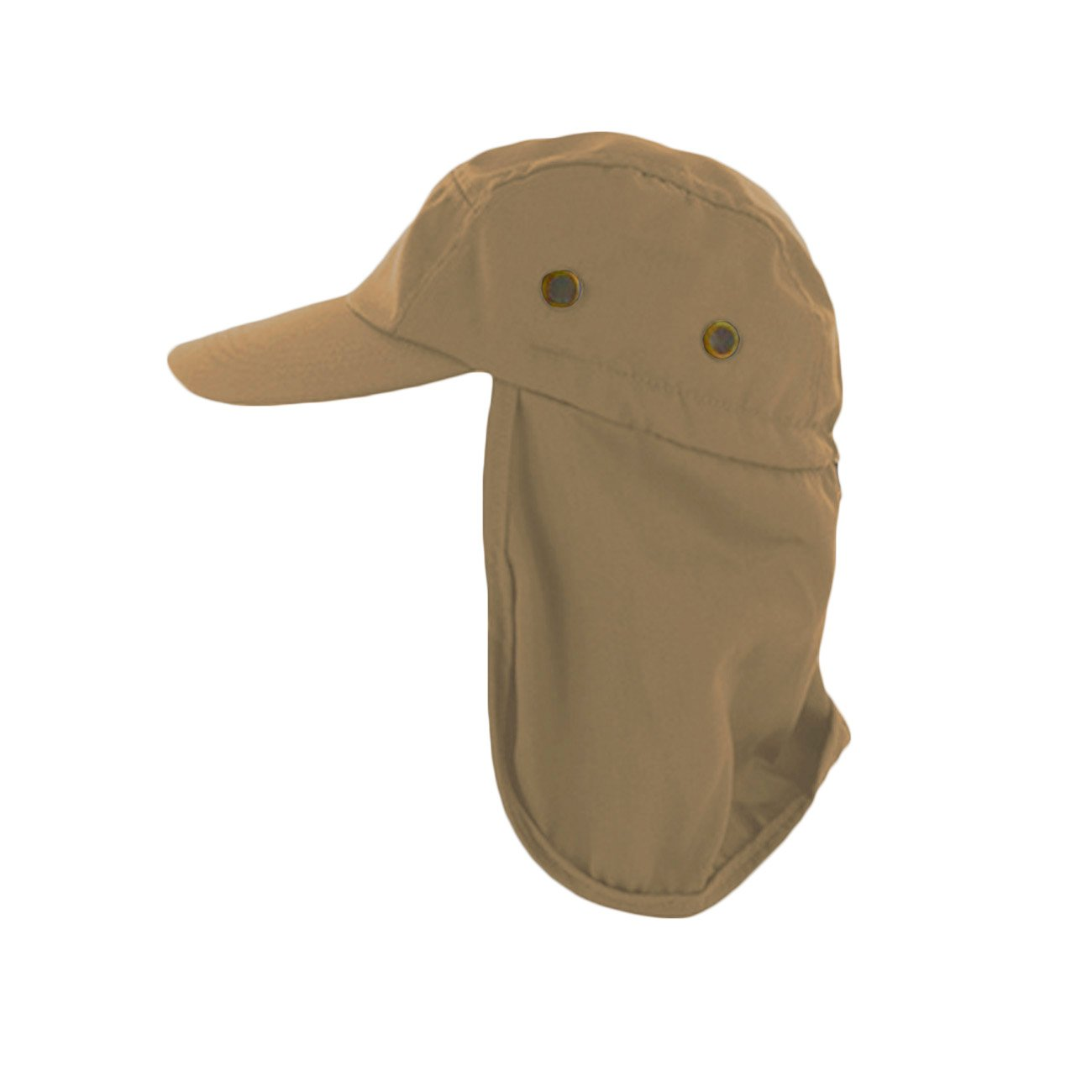 dfe96a8b2a174 Amazon.com   Magg Mens Fishing Boating Hiking Army Military Snap Brim Ear  Neck Cover Sun Flap Cap (Black)   Sports   Outdoors