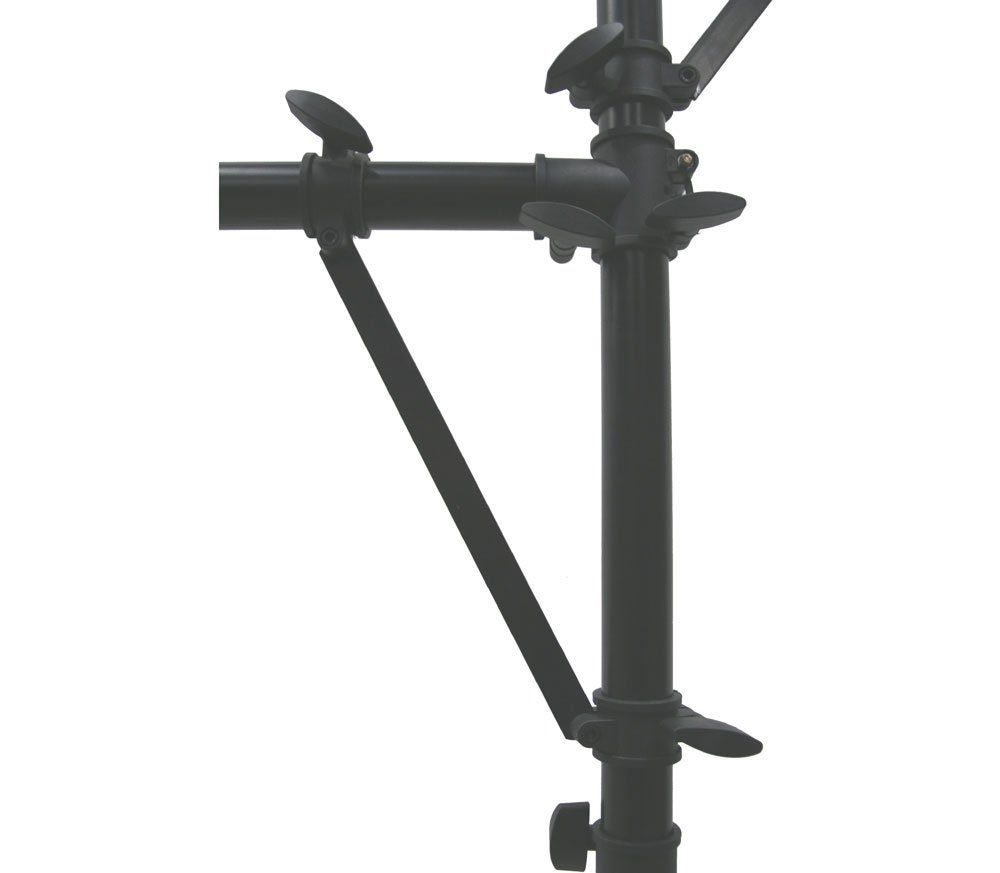 Amazon.com: ASC Pro Audio Mobile DJ Light Stand Multi Arm Lighting T Bar  Portable Tripod Up To 12 Foot Height: Musical Instruments
