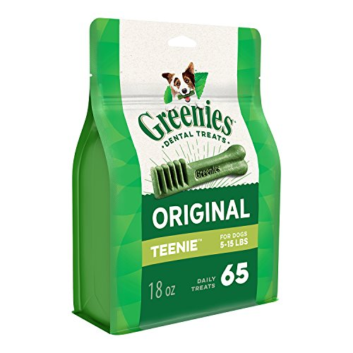 GREENIES Original TEENIE Dog Dental Chews – 18 Ounces 65 Treats